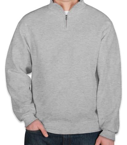 Jerzees Lightweight Quarter Zip Sweatshirt - Ash