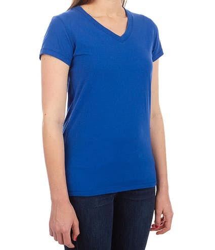 c2fc8dca5b3 Bella + Canvas Juniors Jersey V-Neck T-shirt