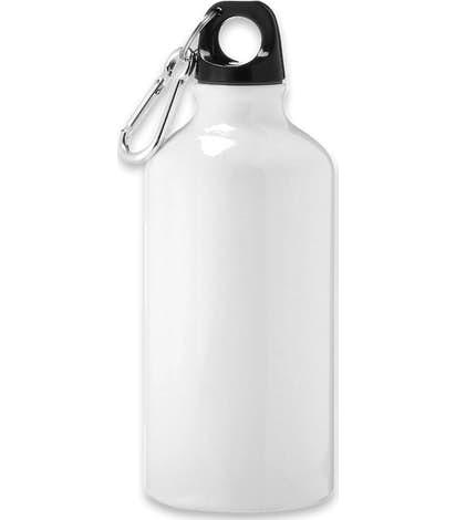17 oz. Shorty Aluminum Water Bottle - White
