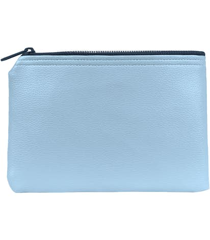 Small Vegan Leather Pouch - Powder Puff / Midnight
