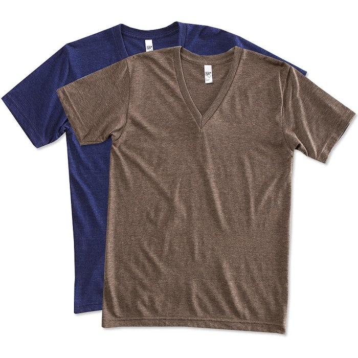 e7699f5f5 Custom American Apparel Tri-Blend V-Neck T-shirt - Design Short ...