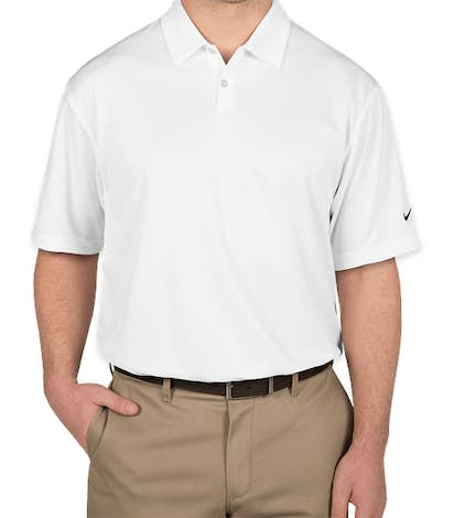 Nike Pebble Textured Performance Polo - White