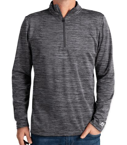 Russell Athletic Dri Power® Quarter Zip Performance Pullover - Black