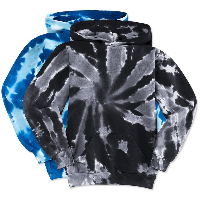 62a707948e7 Design Custom Printed - Port   Company Youth Tie-Dye Pullover Hoodie ...