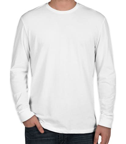 Next Level Sueded Long Sleeve T-shirt - White