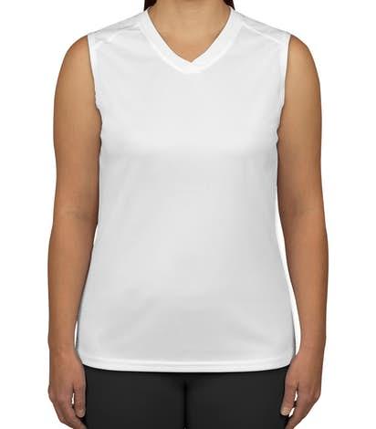 Badger B-Dry Women's Sleeveless Performance Shirt - White