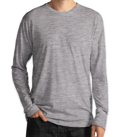 Delta Platinum Tri-Blend Long Sleeve T-shirt - Athletic Heather
