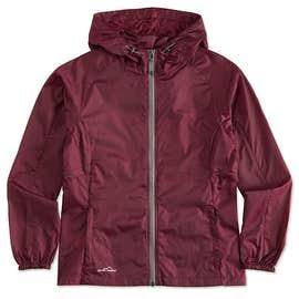 Eddie Bauer Women's Full Zip Hooded Packable Jacket