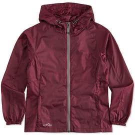 Eddie Bauer Women's Full Zip Hooded Packable Jacket