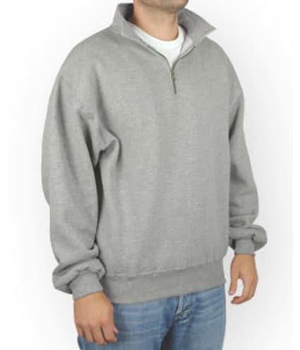 53565340f Custom Jerzees Super Sweats® 50/50 Quarter Zip Sweatshirt - Design ...