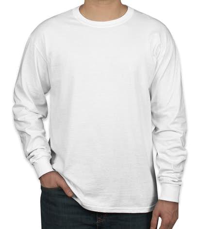 Jerzees 100% Cotton Long Sleeve T-shirt - White