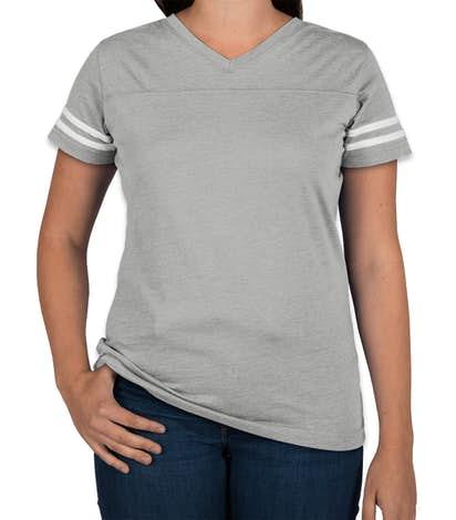 ea3e4320 Custom LAT Women's Varsity V-Neck T-shirt - Design Women's Short ...