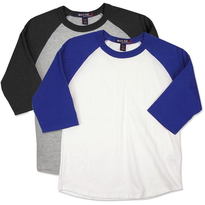 5ec3b041b3e Sport-Tek Youth Baseball Raglan - Design Custom Kids Baseball Shirts