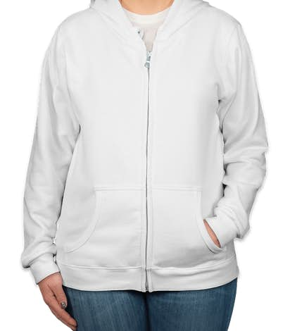 Canada - Gildan Women's Zip Hoodie - White