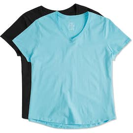 Hanes Women's Just My Size Plus V-Neck T-shirt