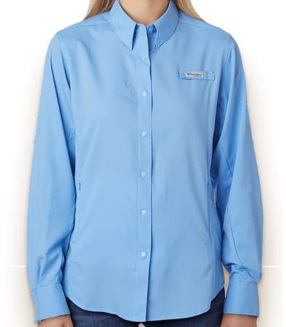 Columbia Women's Tamiami Long Sleeve Shirt - White Cap Blue