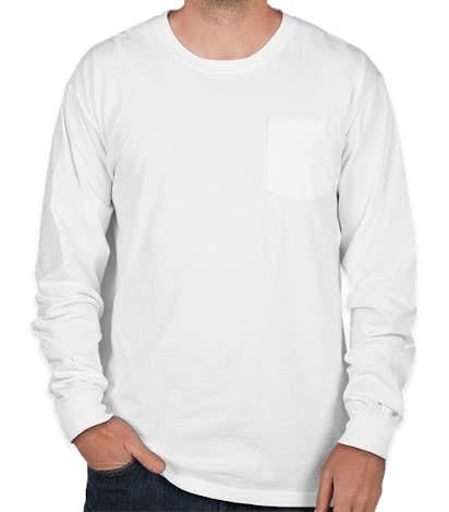 Comfort Colors Long Sleeve Pocket T-Shirt - White