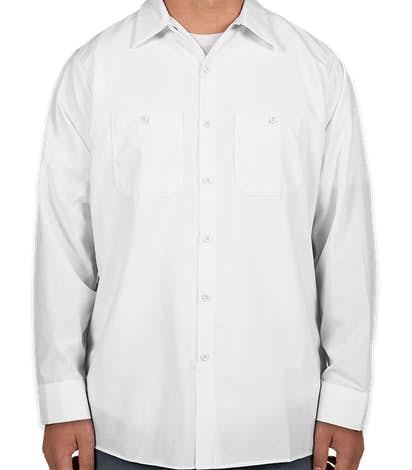 Red Kap® Long Sleeve Industrial Work Shirt - White