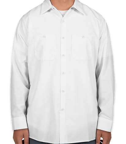 Canada - Red Kap® Long Sleeve Industrial Work Shirt - White