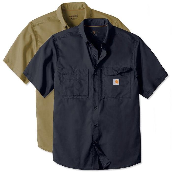 96e020a40d Carhartt Force Ridgefield Short Sleeve Casual Shirt