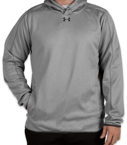 2aa99d4f09b6 Under Armour Double Threat Armour Fleece® Hoodie - True Gray Heather    Stealth Gray