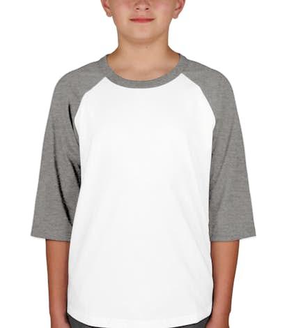ba5b431ee0d Sport-Tek Youth Baseball Raglan - Design Custom Kids Baseball Shirts