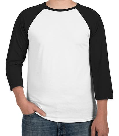 Bella + Canvas Lightweight Raglan T-shirt - White / Black