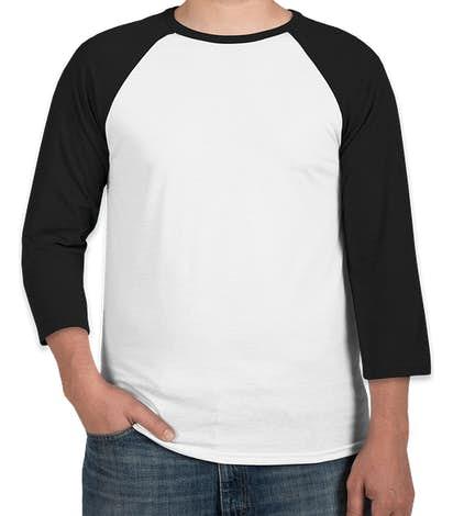 Canada - Bella + Canvas Lightweight Raglan T-shirt - White / Black