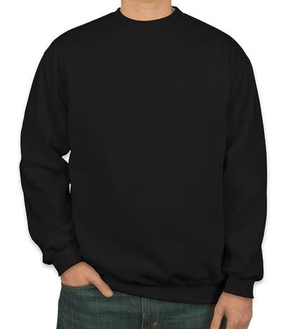 Bayside USA-Made Heavyweight Crewneck Sweatshirt - Black