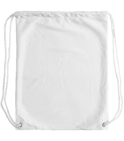 Jersey Mesh Drawstring Bag - White