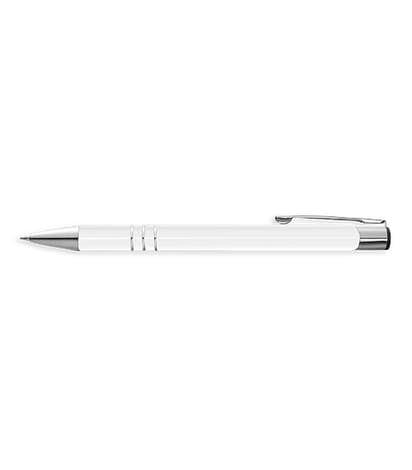 Laser Engraved Richmond Ballpoint Pen (blue ink) - Silver