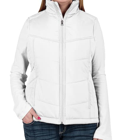 Port Authority Women's Puffy Vest - White / Dark Slate