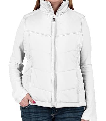 Port Authority Women's Puffy Vest - White / Dark Slate