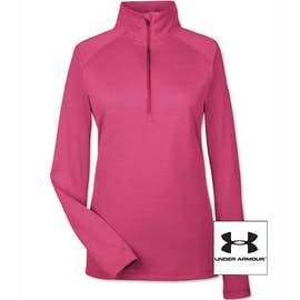 Under Armour Women's Tech Stripe Quarter Zip Performance Shirt