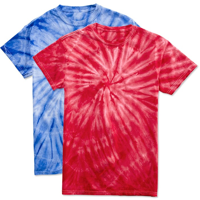 bd2322d342c Custom Dyenomite 100% Cotton Tonal Tie-Dye T-shirt - Design Short ...