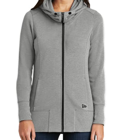 New Era Women's Tri-Blend Zip Hoodie - Shadow Grey Heather