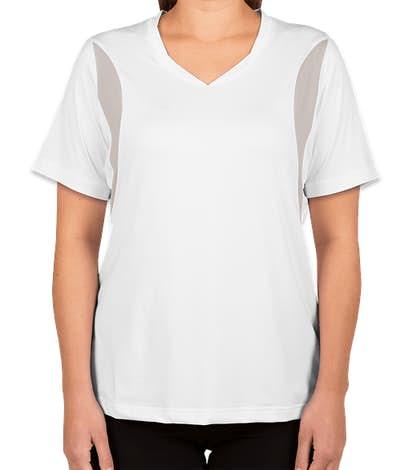 Team 365 Women's Colorblock Performance Jersey - White / Sport Silver