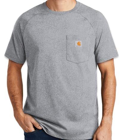 d75fd6b6 Custom Carhartt Force Cotton Pocket T-shirt - Design Short Sleeve T ...