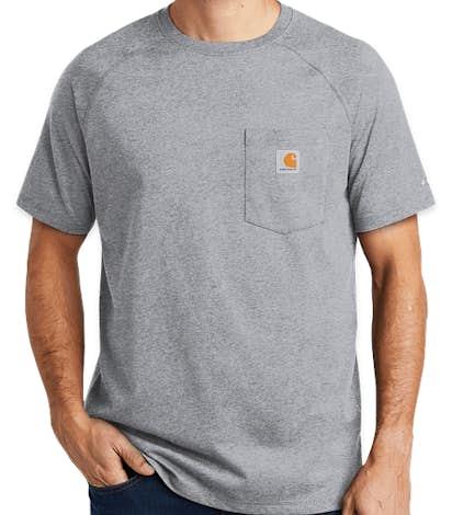Carhartt Force Cotton Pocket T-shirt - Heather Grey