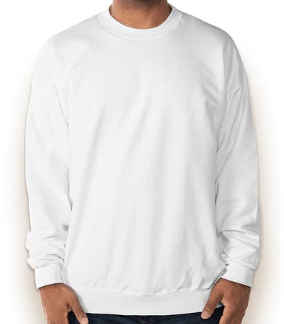 Hanes Ultimate Heavyweight Crewneck Sweatshirt - White