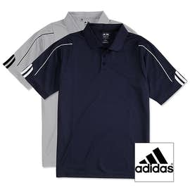 Adidas ClimaLite Three Stripe Performance Polo
