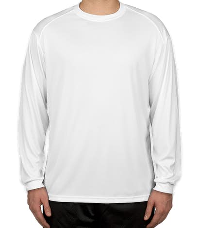 Badger B-Dry Long Sleeve Performance Shirt - White