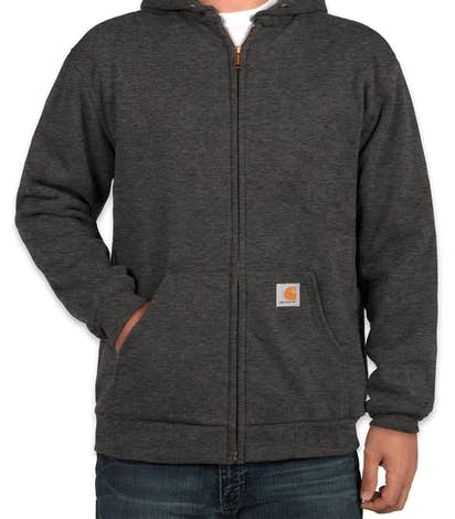 Carhartt Water Resistant Thermal Lined Zip Hoodie - Carbon Heather