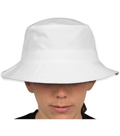 Big Accessories Twill Bucket Hat - White