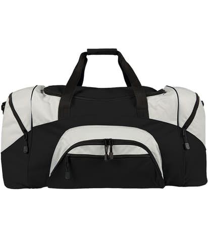 Colorblock Gym Bag - Screen Printed - Black / Grey