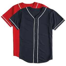 Augusta Wicking Mesh Contrast Trim Baseball Jersey