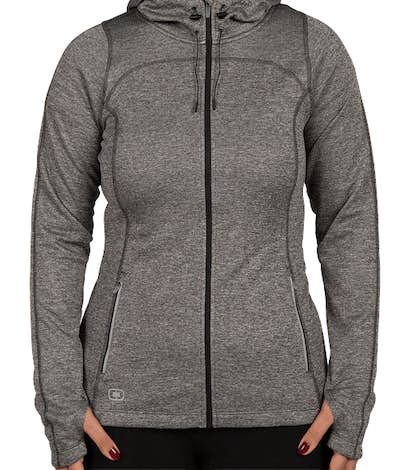 Ogio Endurance Women's Reflective Heather Performance Full Zip - Diesel Grey