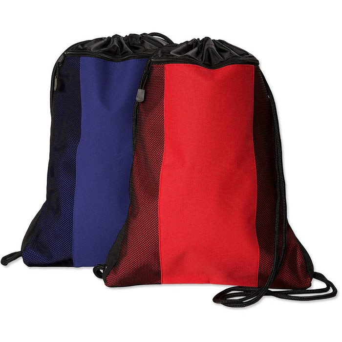 Team 365 Contrast Mesh Drawstring Bag