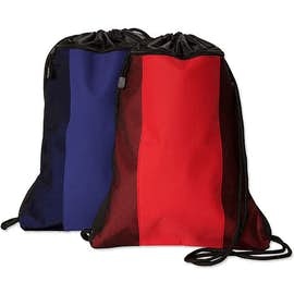Team 365 Contrast Mesh Drawstring Bag