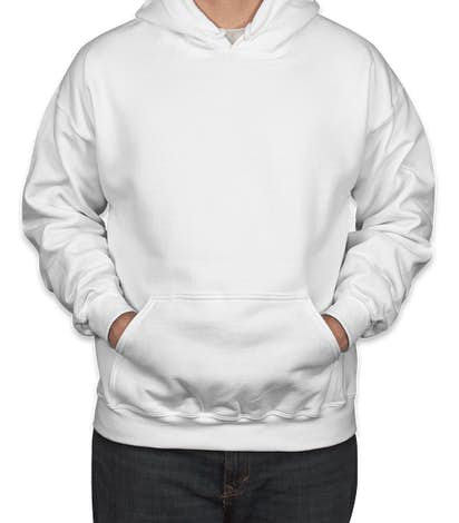 Canada - Gildan DryBlend 50/50 Pullover Hoodie - White